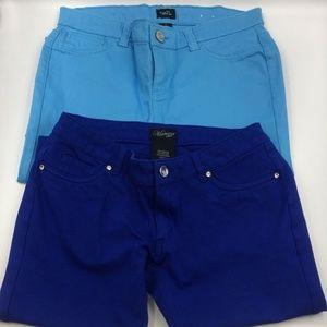 Blue Skinny Jeans Dress Pants Bundle Of 2